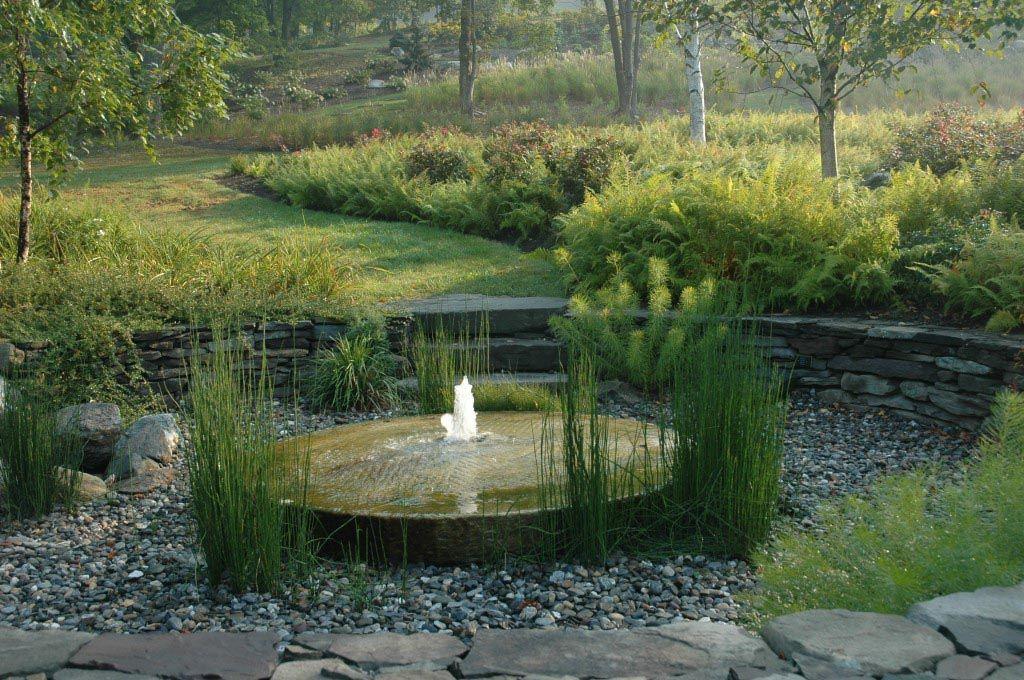 water fountain front yard feng shui