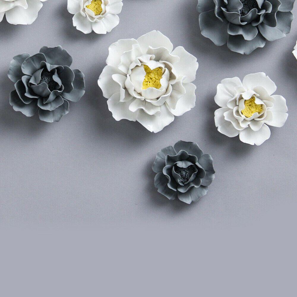 1x Lotus Peony Handmade Wall Decor Ceramic Flower Decoration 3d Wall Hanging Art Ceramic Flowers Handmade Wall Decor Hanging Art