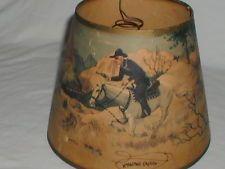 Vintage cowboy lamp shade ebay western themed lampshades vintage cowboy lamp shade aloadofball Choice Image