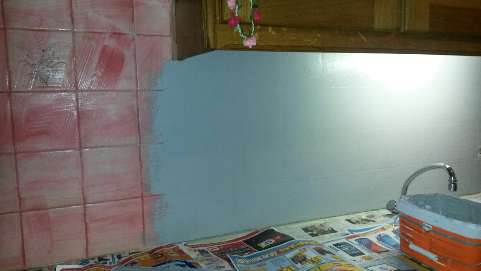 Egaliseren Over Tegels : Tegels in de keuken egaliseren met alabastine betonlook huis