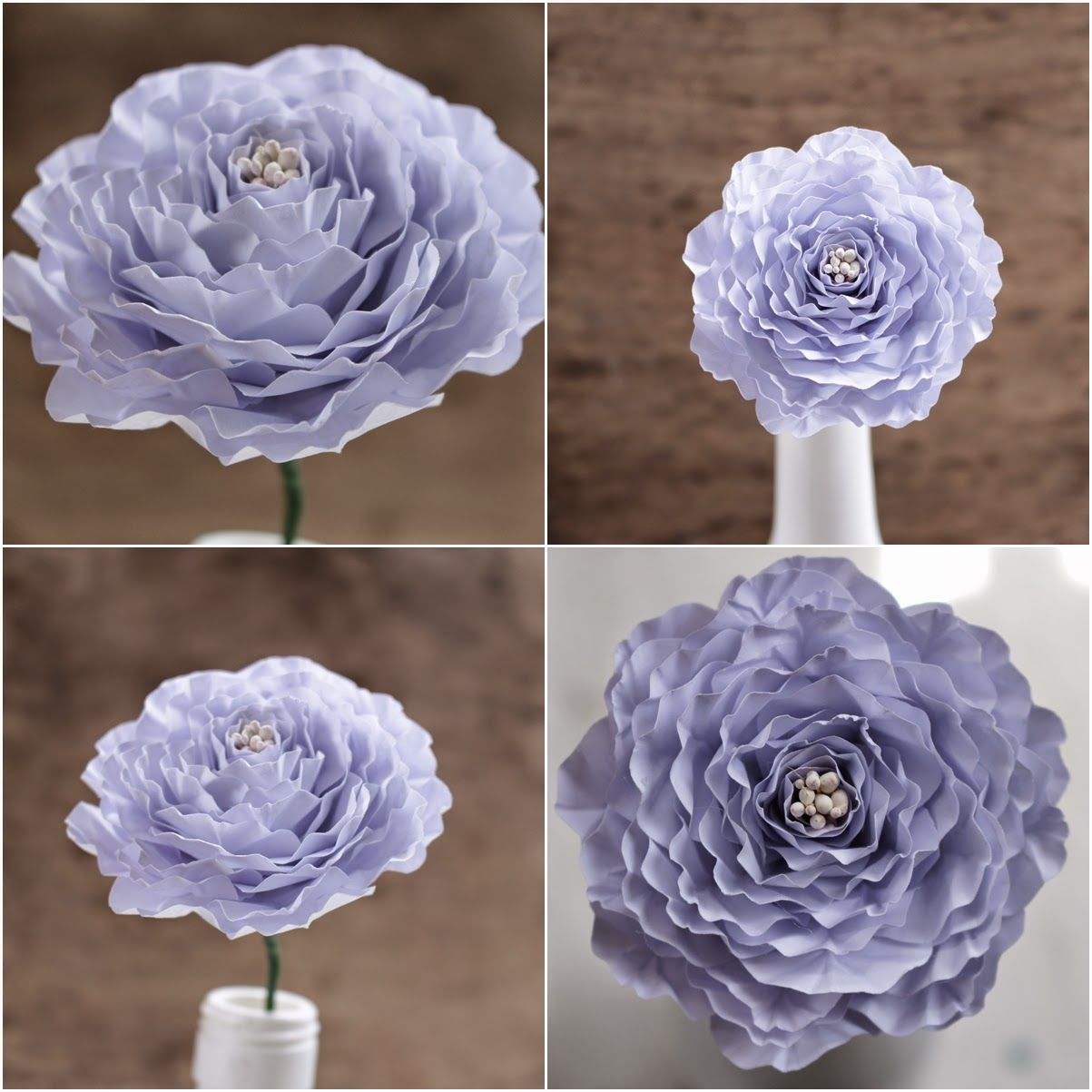 diy how to make a paper peony flower reduce reuse recycle replenish restore diy. Black Bedroom Furniture Sets. Home Design Ideas