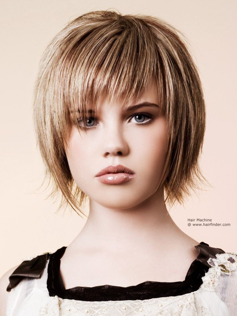 razor-cut bob hairstyle, textured for a choppy effect | how