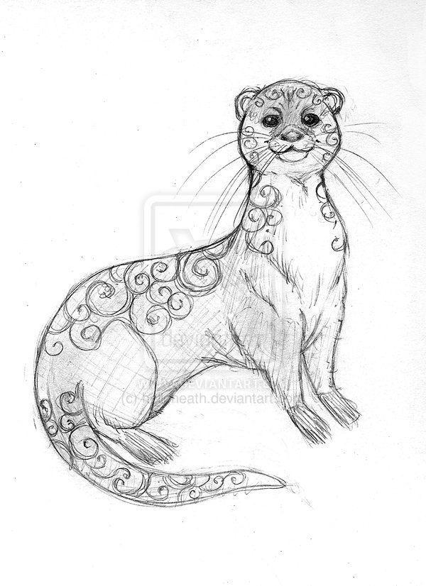 otter tattoos | love this otter | dibujos | Pinterest | Nutrias ...