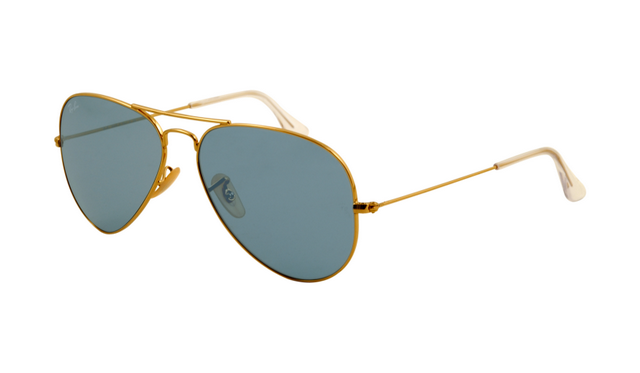 rb sunglasses outlet  Ray Ban RB3025 Aviator Sunglasses Gold Frame Crystal Blue Lens ...