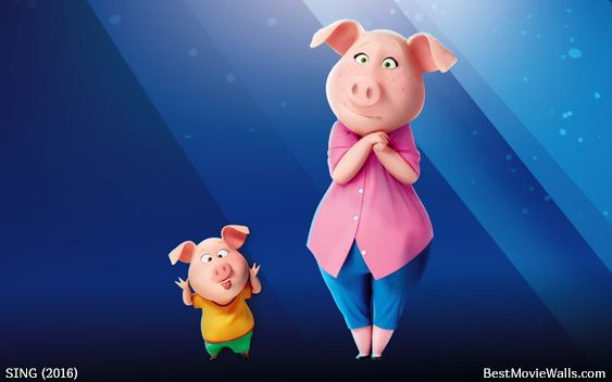 Rosita From Sing With One Of Her Little Piggies In This Clean Wallpaper Sing 2016 Singing Sing Movie