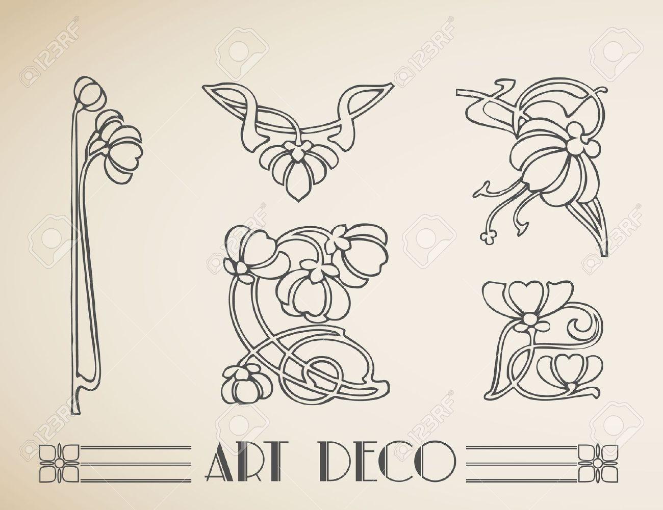 Art nouveau floral border google search art - Art deco and art nouveau ...