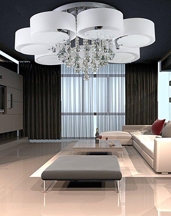 #LED #Deckenleuchte #Designer #Deckenlampe #Kristall #Deckenleuchte #Modern  #Wohnzimmer