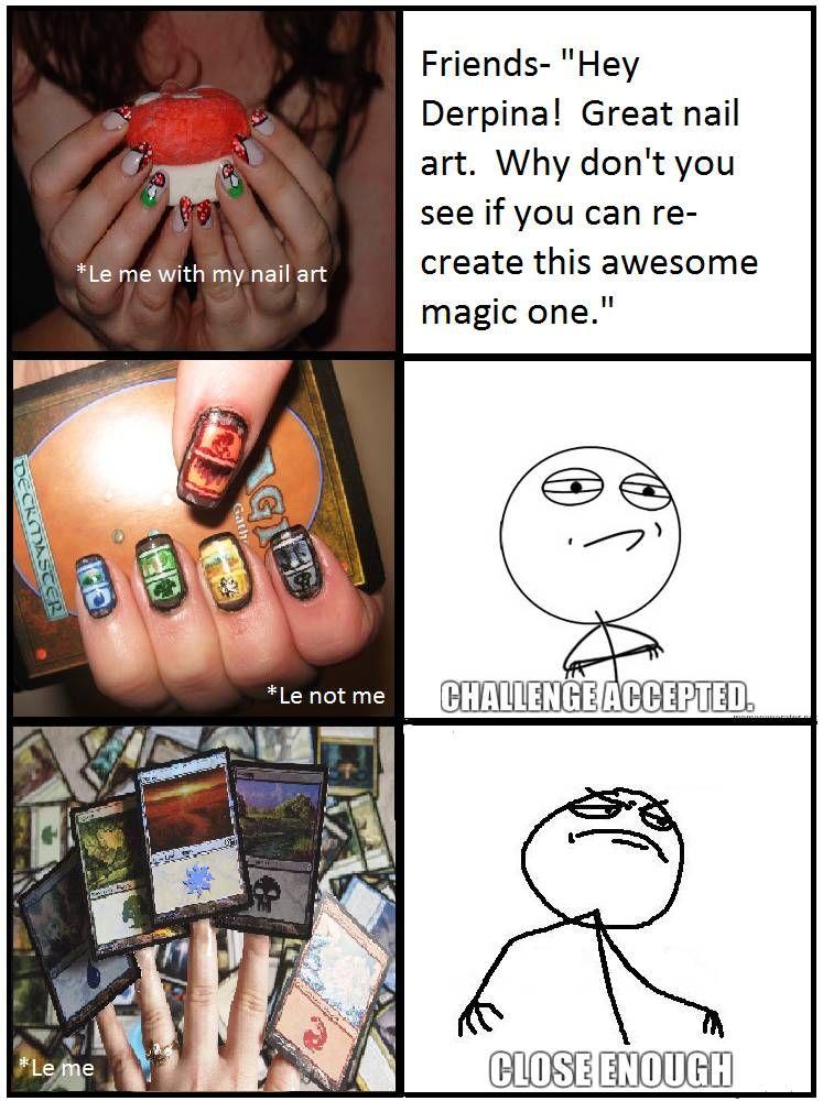 6cfed68d4b9bc9a546a091cf58c37891 final magic meme funny pinterest meme, memes and funny stuff,Meme Nail Art