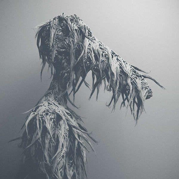 bizarre abstract art human performance art installation , photography...metamorphosis of another spirit