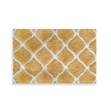 Colordrift Morocco Gold Bath Rug BedBathandBeyondcom Bathroom - Gold bath rugs for bathroom decorating ideas