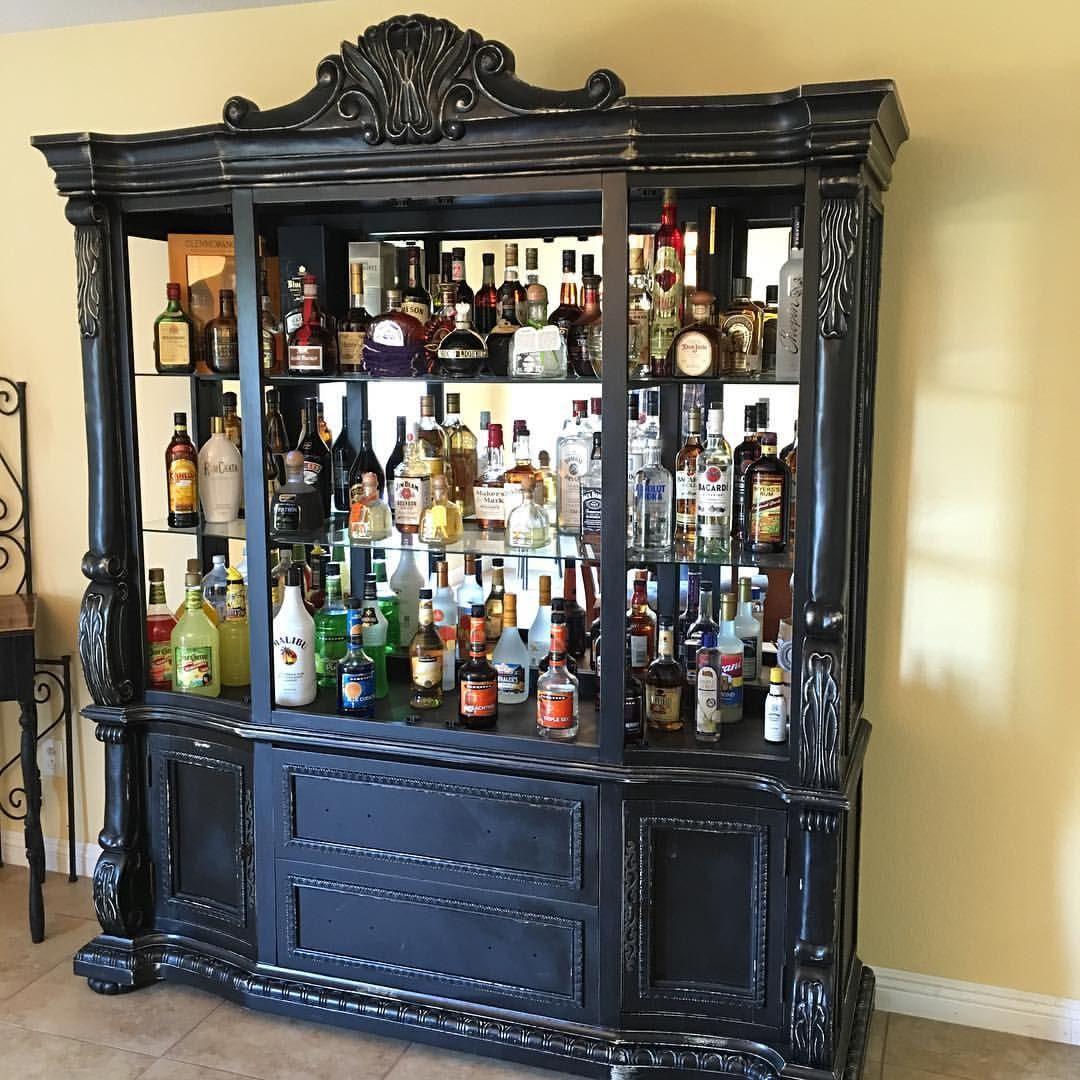 Rustic liquor cabinet #rustic #bar #liquorcabinet #alcohol ...