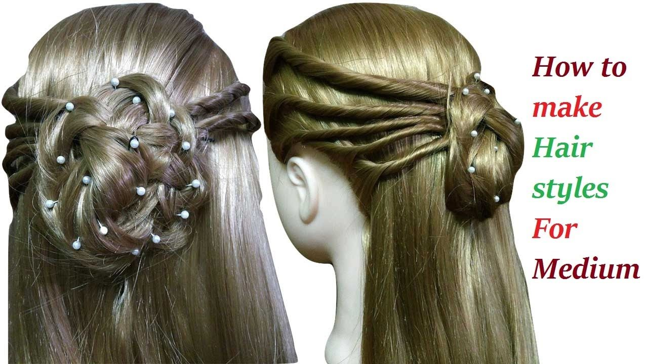 How to make hairstyles for medium or long hair easy hairstyles for