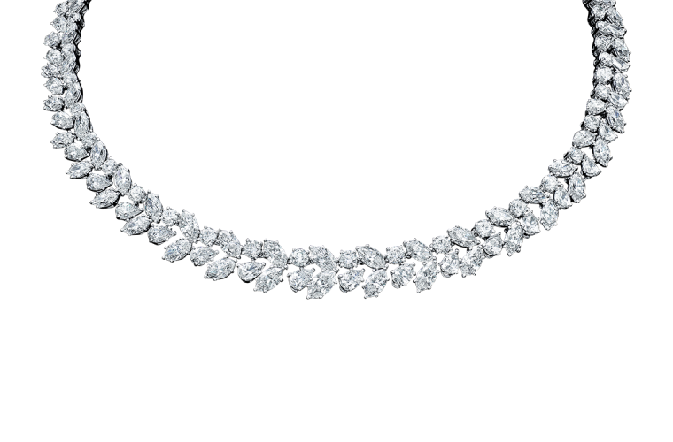 winston� cluster by harry winston diamond wreath necklace