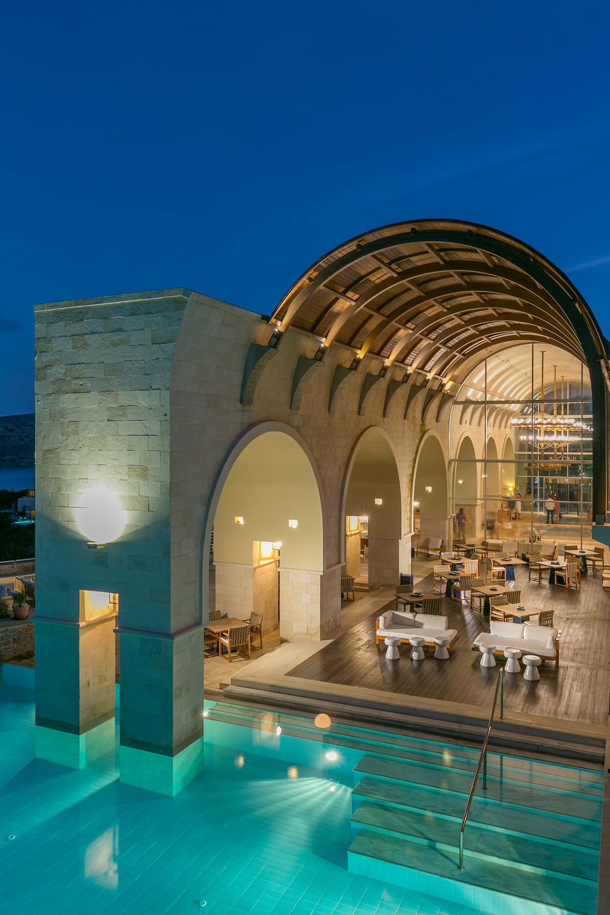 Blue Palace Resort Spa Set On Crete S Palace Resorts Resort Pools Resort Spa
