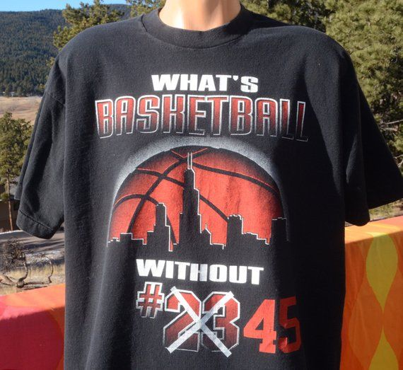 434d54742 vintage 90s tee michael JORDAN 45 chicago bulls basketball nba t-shirt XL  black
