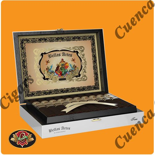 Bellas Artes Box Pressed Toro Cigars - Maduro Box of 20 - Best Online prices Bellas Artes Box Pressed Toro Cigars - Maduro Box of 20 at Cuenca Cigars. Shop A.J. Fernandez Cigars receive FREE SHIPPING on cigar orders over $199. Latest addition to the acclaimed A.J. Fernandez Cigars line. Using Mata Fina as wrapper, this full bodied Toro with size of: 6..Price: $178.50