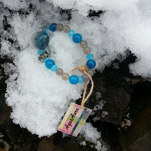 #AquaAura #pulsera #Crisocola #plata #Energia #gemoterapia #Foto #cute #joyas #invierno