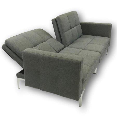 Viscologic Clarke Split Back Convertible Futon Sofa Walmart Canada Futon Canape Lit