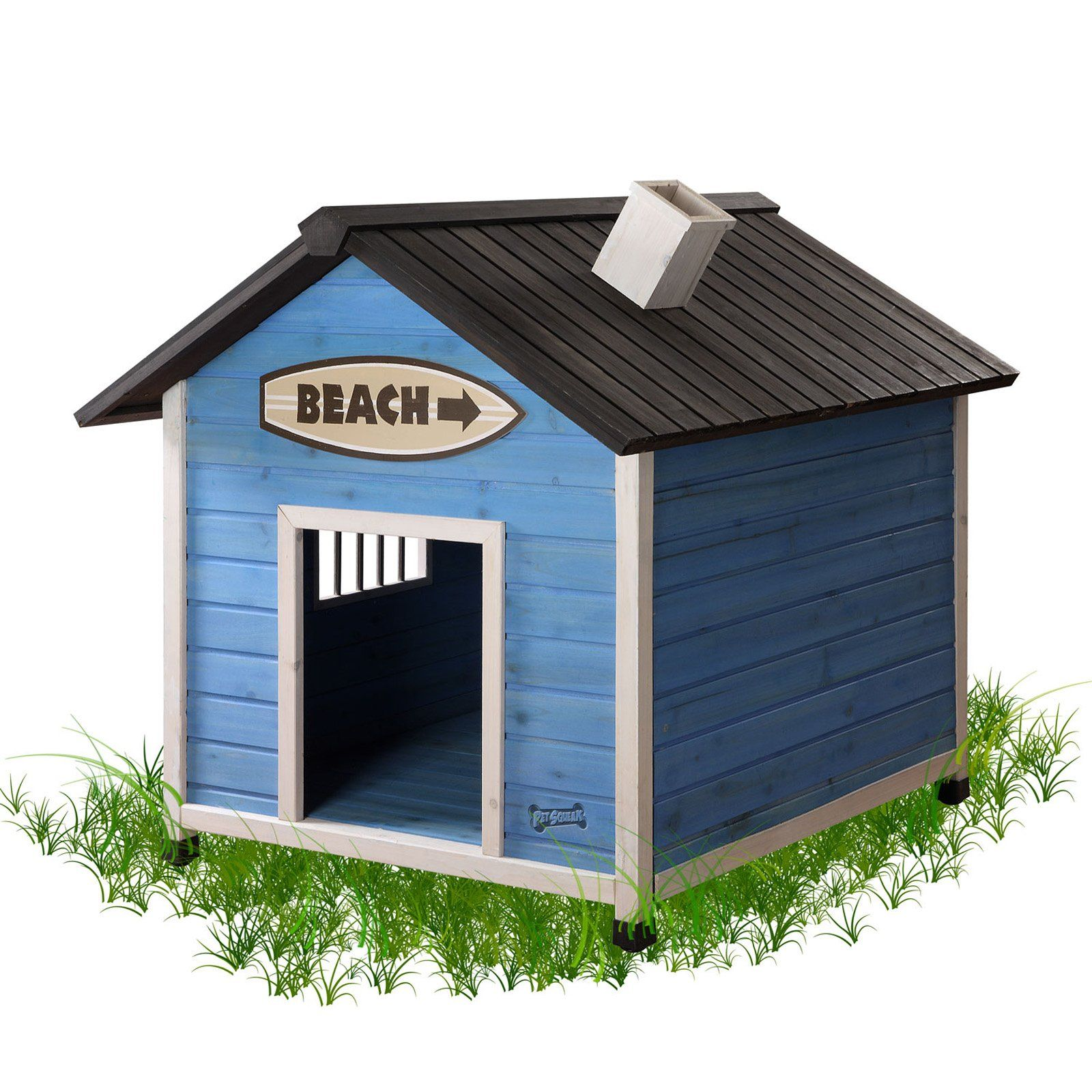 This Beach House Dog House would be