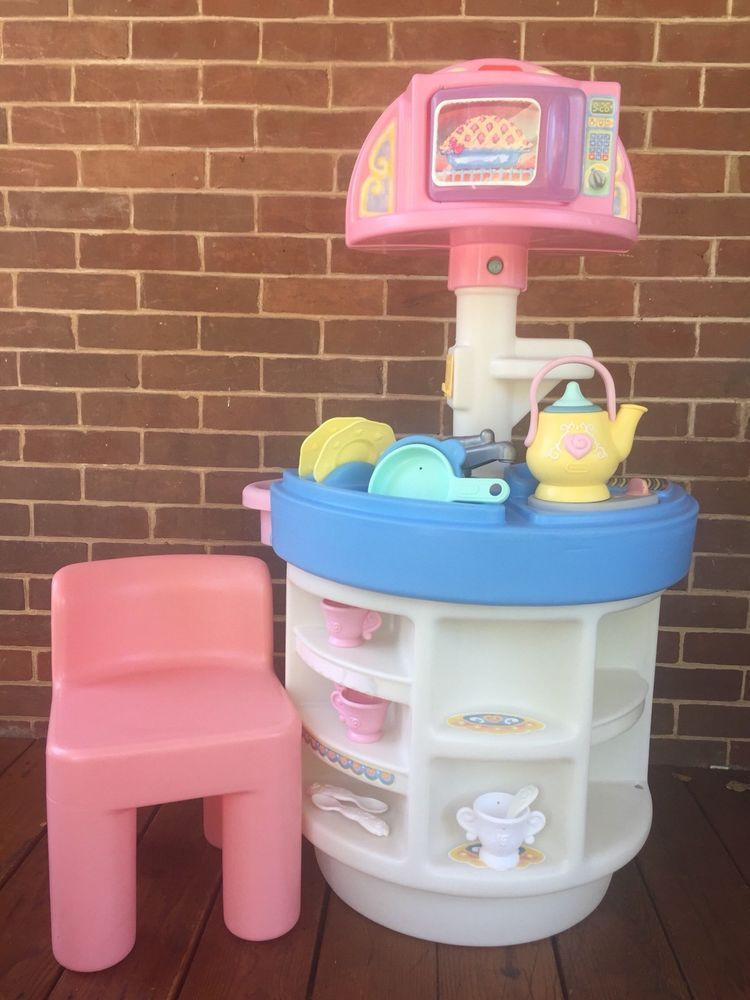 Little Tikes Tender Heart Tea Party Kitchen Pink Chair ...