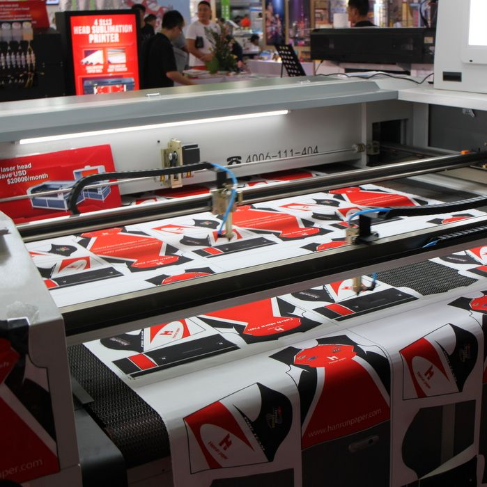 Image result for laser cutting machine for sublimated sportswear