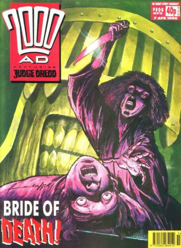 2000ad PROG 673   JUDGE DREDD    1990    vf+