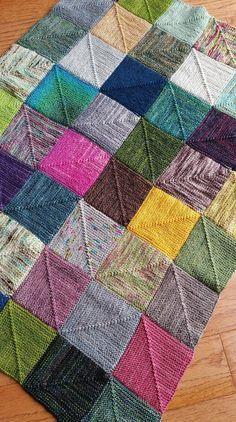 Photo of Endlose Quadrate Decke Strickmuster von OwlCat Designs