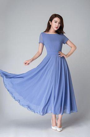 Infinity Kleid Brautjungfer, Chiffon Kleid lang, Ballkleid ...