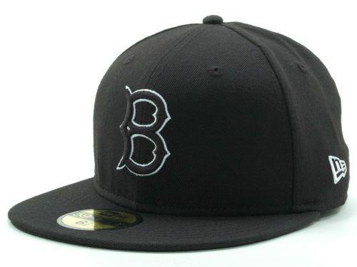 f6fa11c512b81 Brooklyn Dodgers New Era MLB Black and White Fashion 59FIFTY Cap Hats