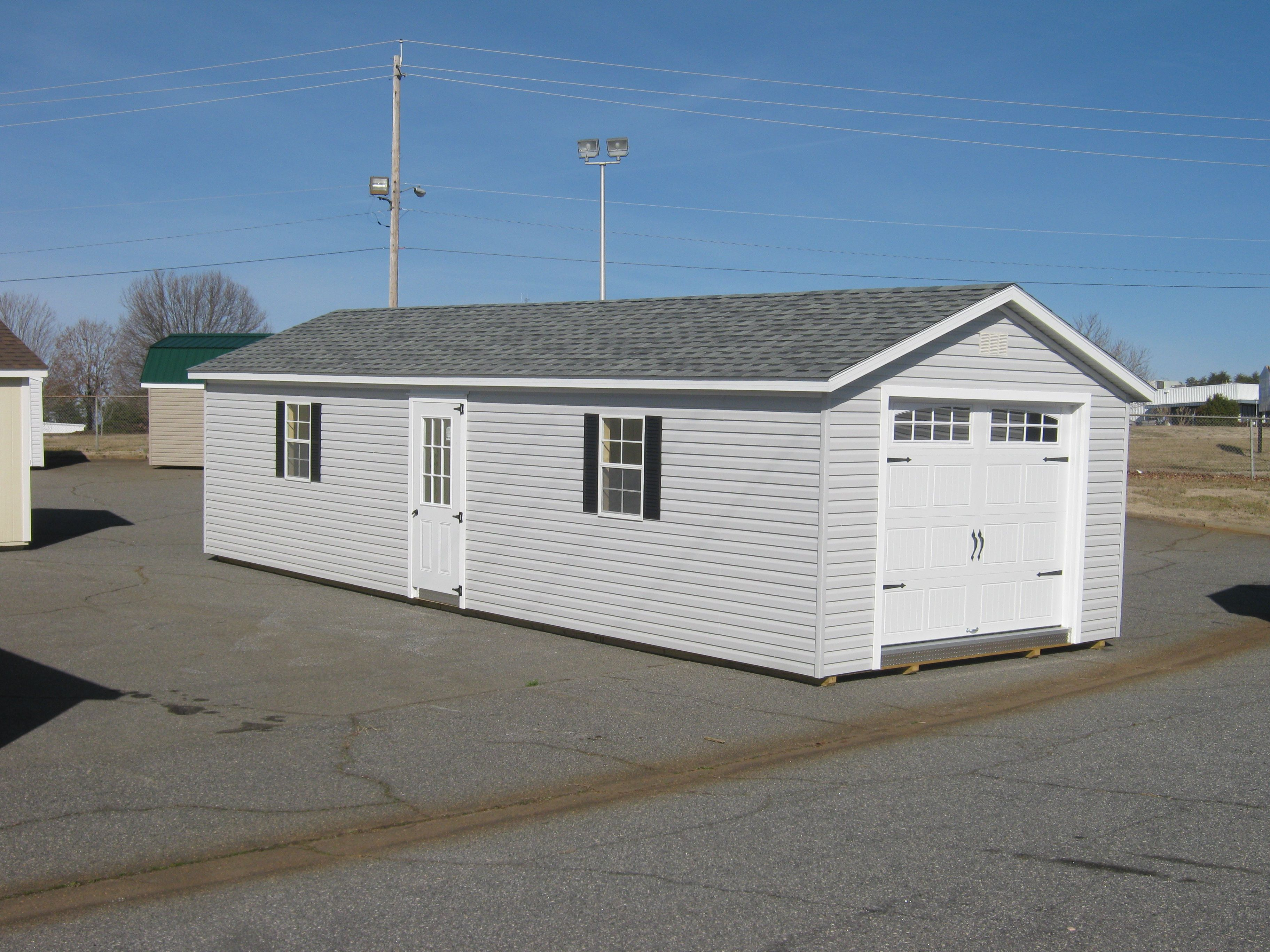 14x40 Vinyl Garage Built In Storage Building Shed