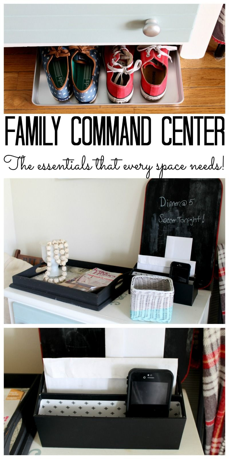 Family Command Center: Find Out What Your Space Needs And How To Get  Organized!