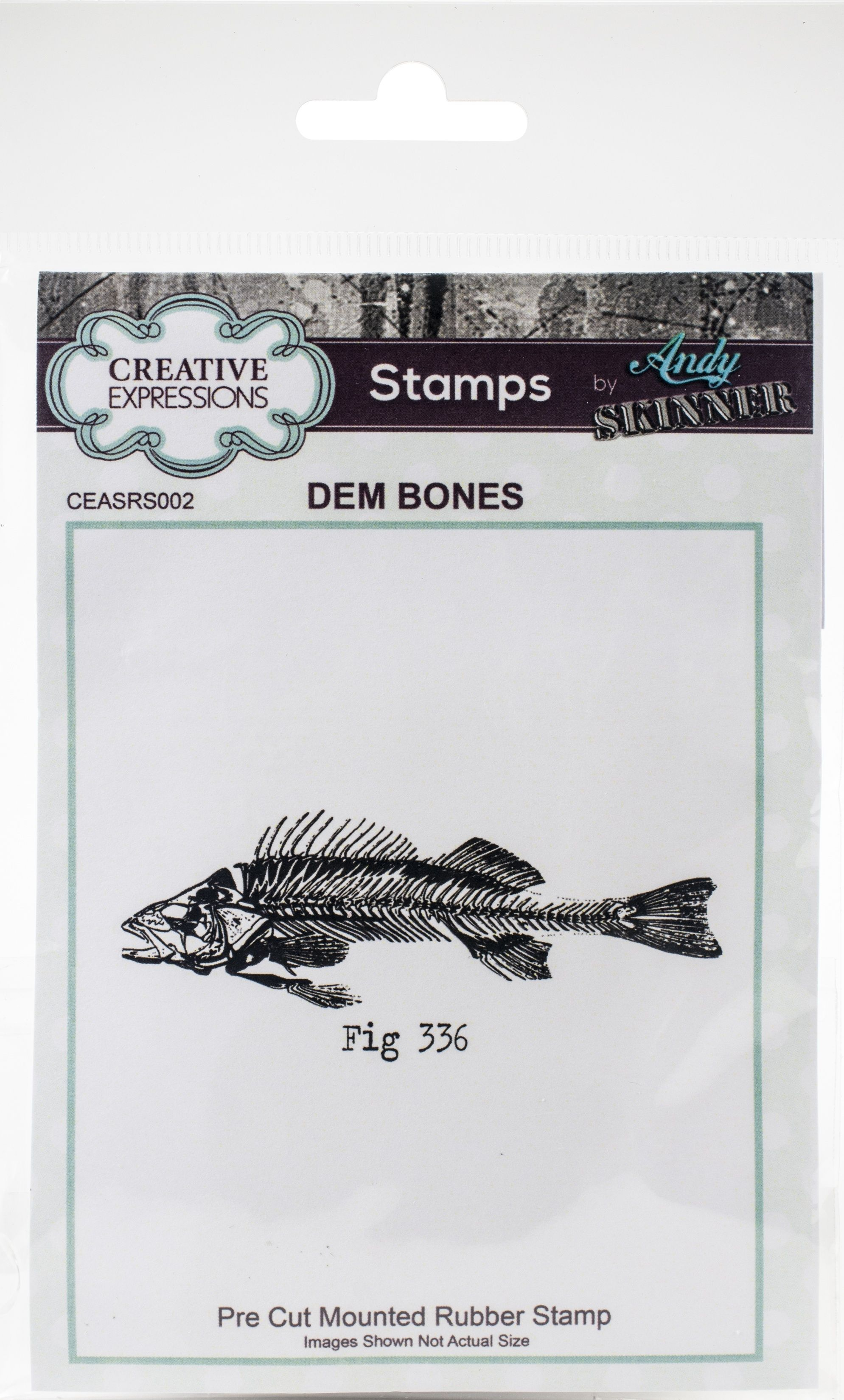 Creative Expressions Rubber Stamp By Andy Skinner - Dem Bones - High quality stamps are perfect for cardmaking and scrapbooking. This package contains Dem Bones: one stamp on a 4x5.75 inch backing sheet. Imported.. SKU: .