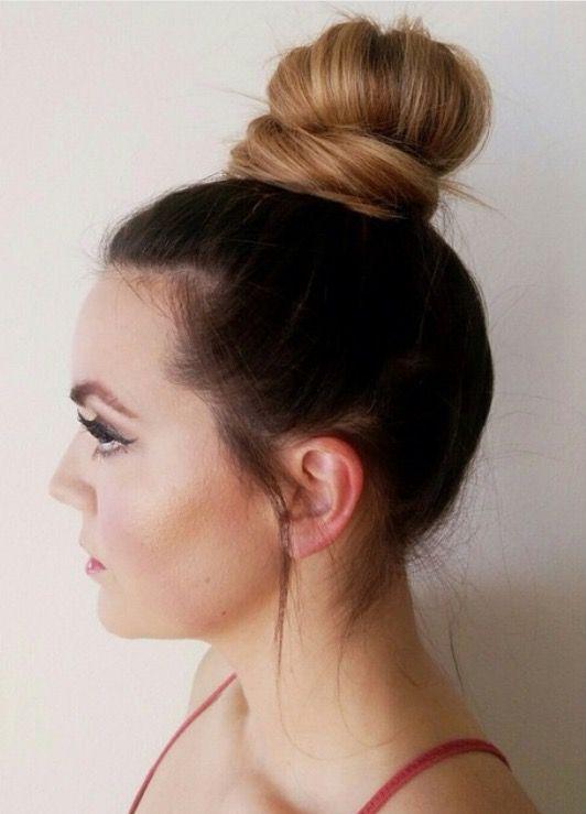 Bun Hairstyles For Curly Hair : A pineapple bun is an easy go to summer hair style. summer hair