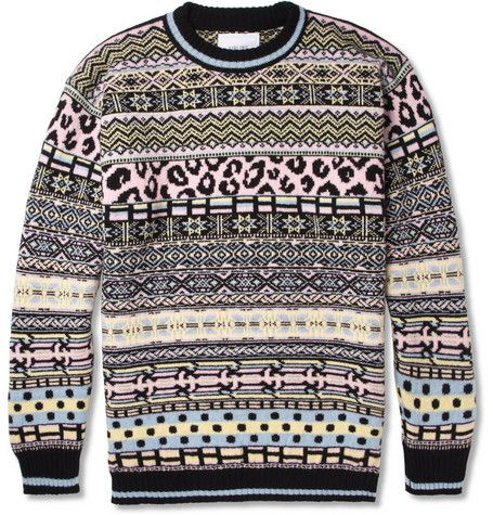 Sibling Oversized Fair Isle Lambswool Sweater (for men, but could ...