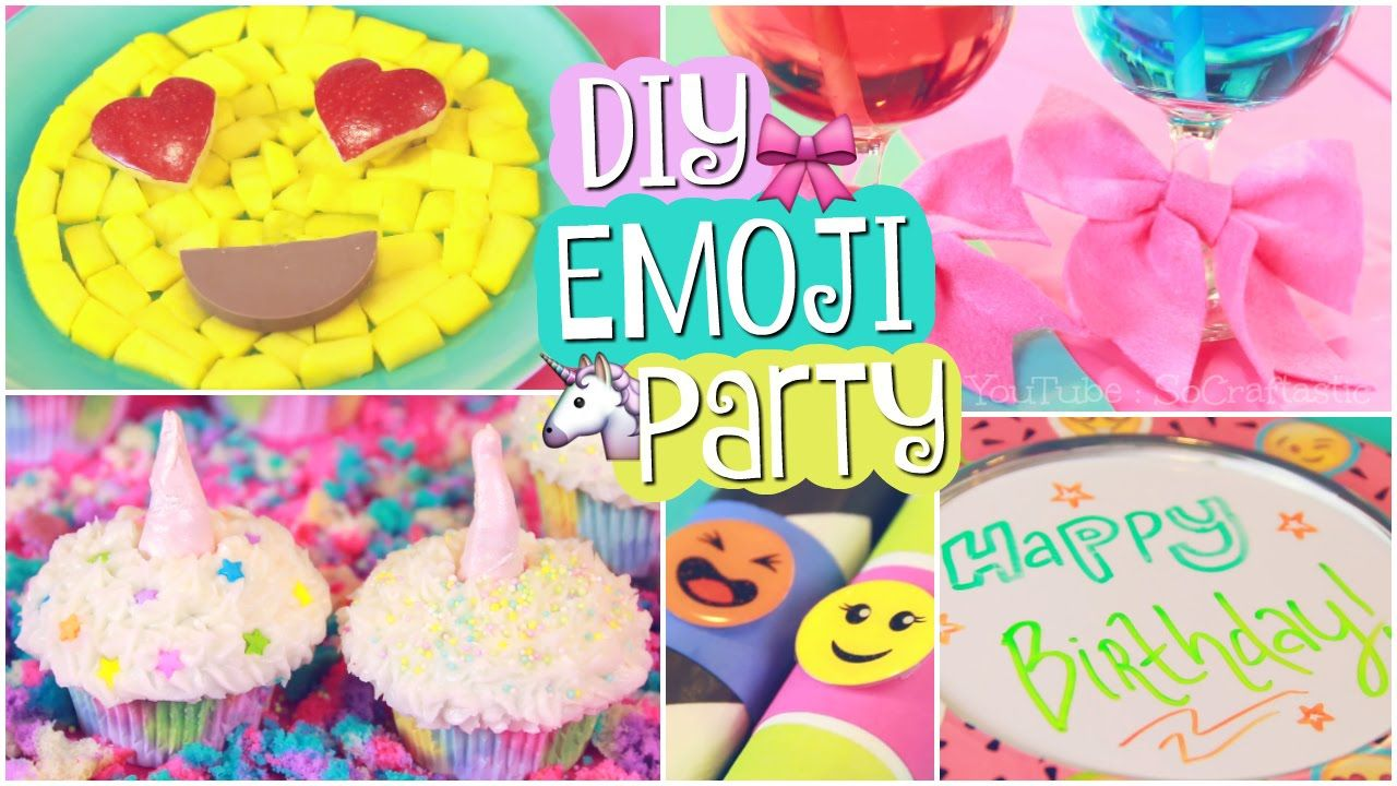 In This DIY Learn How To Make Some Easy Emoji Party Projects Create Magical Unicorn Cupcakes For Your Birthday Or No Sew Felt Bows