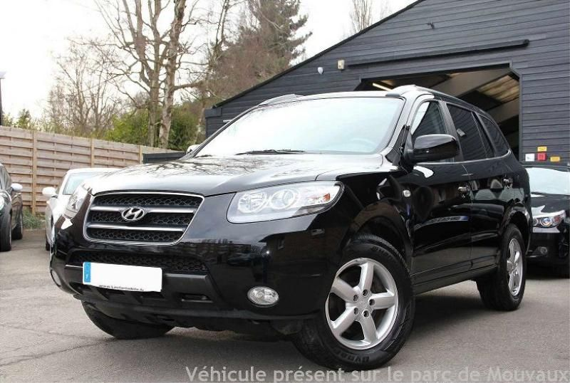 hyundai santa fe diesel 2009 noir 79700 km occasions. Black Bedroom Furniture Sets. Home Design Ideas