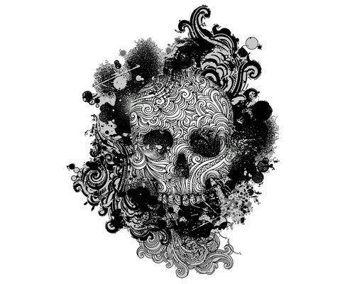 Wandtattoo »Skull«