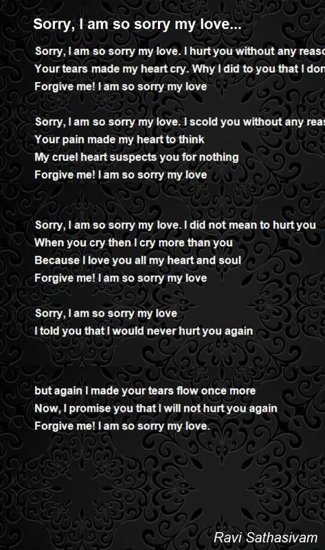 I'm Sorry, I Love You : sorry,, Sorry,, Sorry, Love..., Sathasivam, Hunter, Quotes,, Love,, Quotes