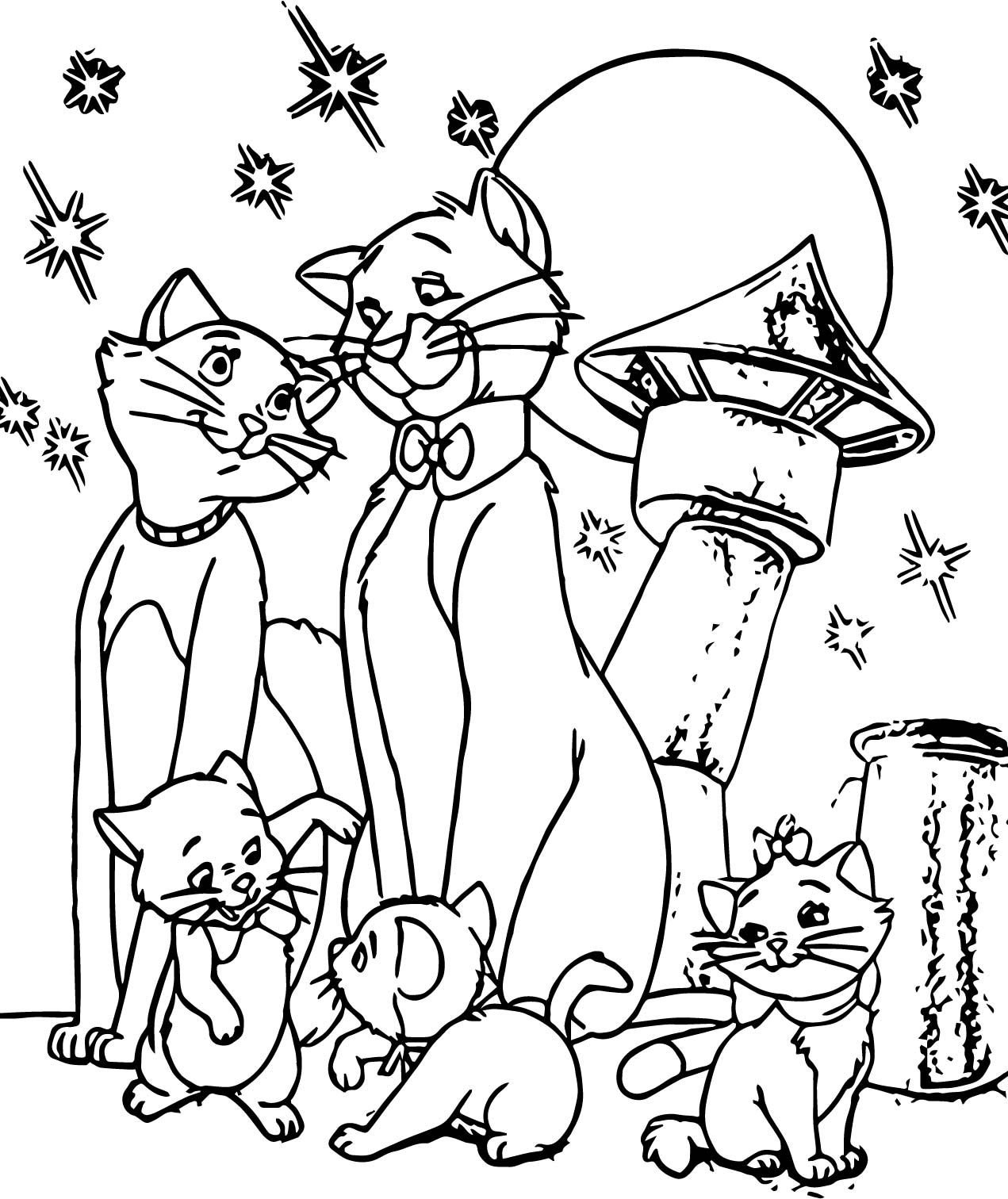 Nice Family Disney The Aristocats Coloring Page Owl Coloring Pages Unicorn Coloring Pages Coloring Pages