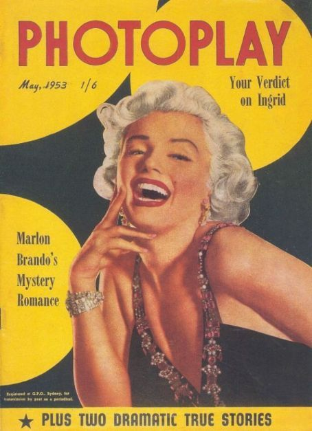 Photoplay magazine 03-1953. Front cover photo of Marilyn Monroe.