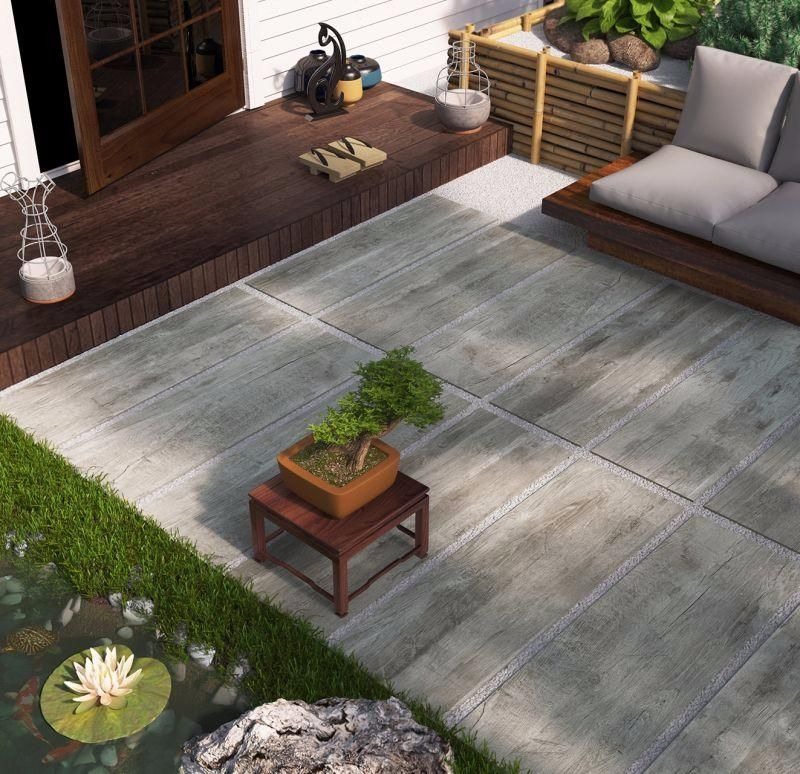 DALLE SIENA carrelage extérieur 2 cm EBONY effet bois CARRA - pose dalle terrasse sur beton