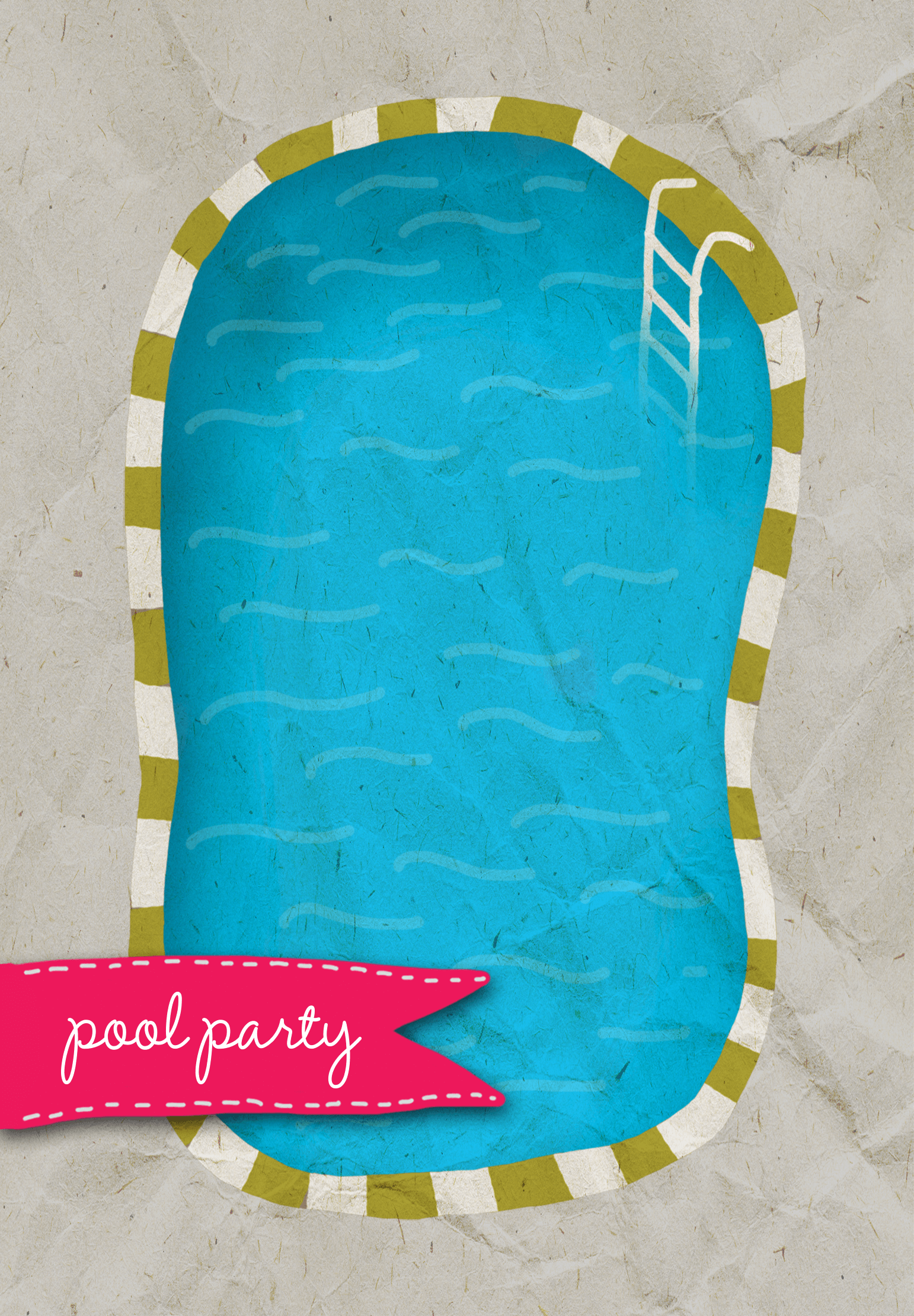 A Pool - Free Printable Summer Party Invitation Template | Greetings Island | ☀ Anniversaire été ...