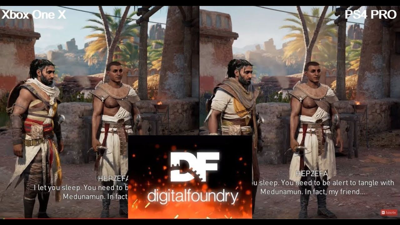 Is Xbox One X Getting 4k Textures In Ac Origins If Pc Offers Ps4