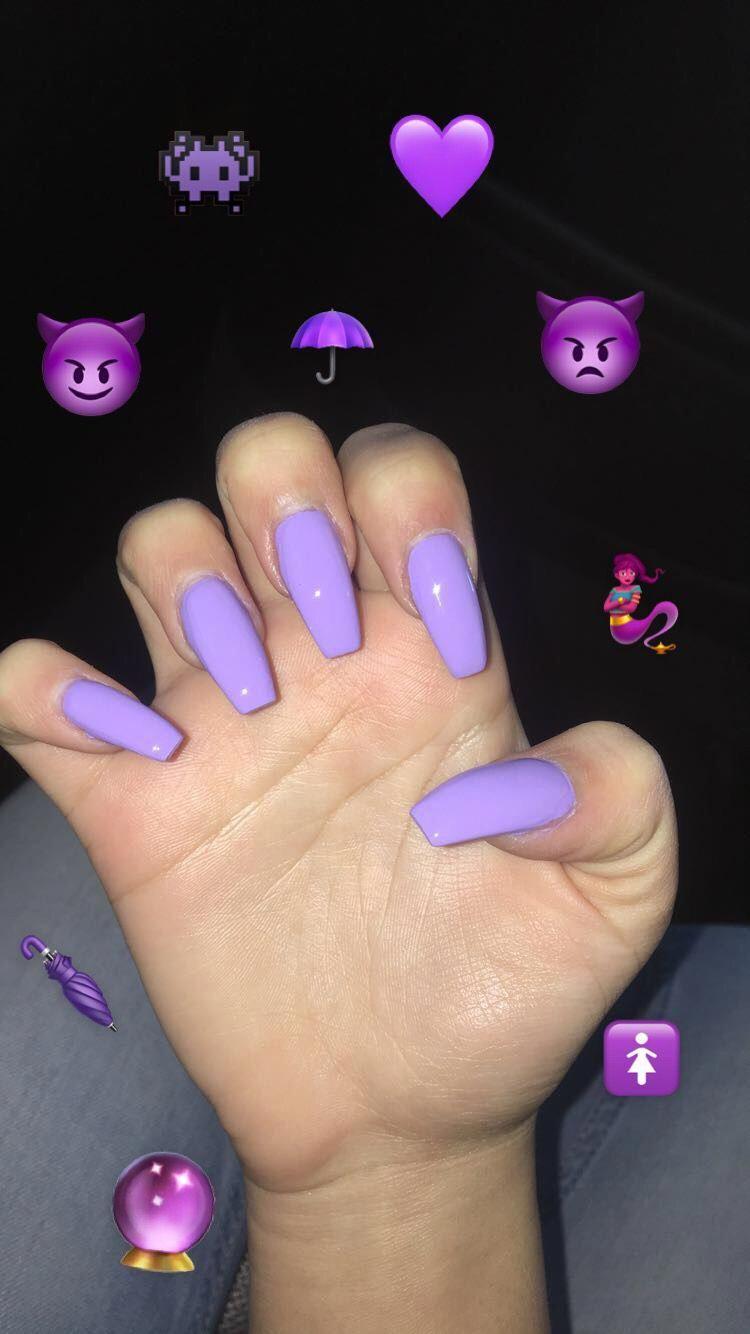 Nailart Nails Purple Acrylicnails Pretty Pastel Color Purplenails Pastelnails Lily Lilacnails Lilac Nails Purple Acrylic Nails Acrylic Nails Pastel