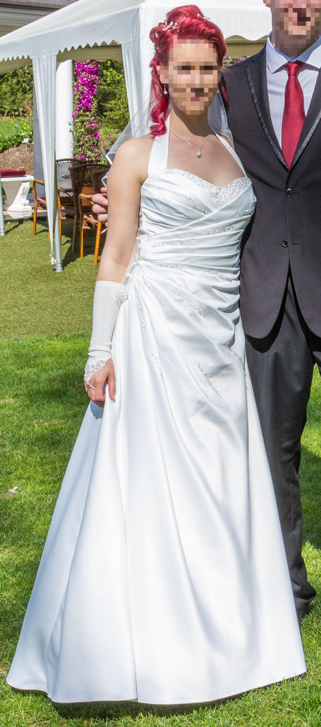 Brautkleid in Ivory mit Zubehör zu verkaufen, Größe 36 / 38 ...