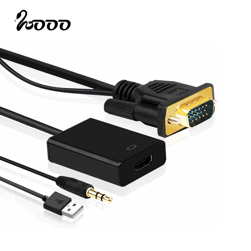 VGA to HDMI Converter Adapter 1080P HD with Audio VGA2HDMI TV AV ...
