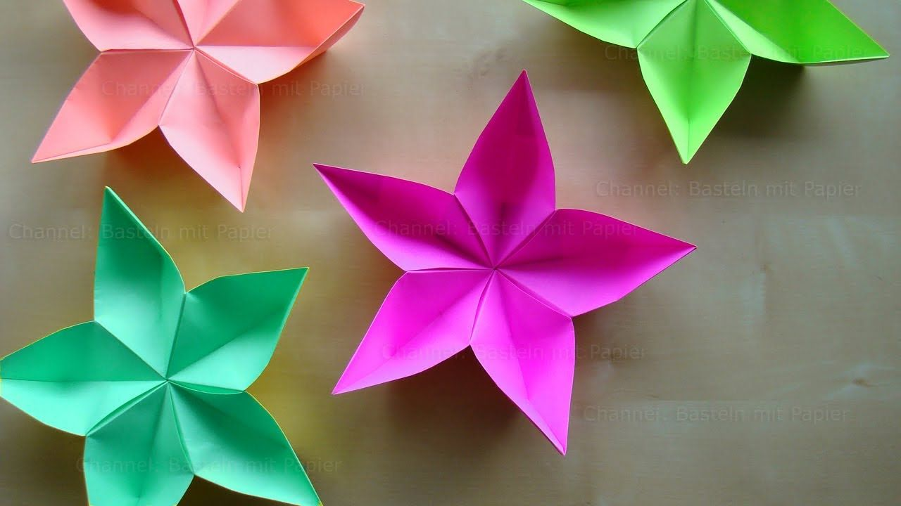 Origami Flower How To Make An Origami Flower With Paper Easy