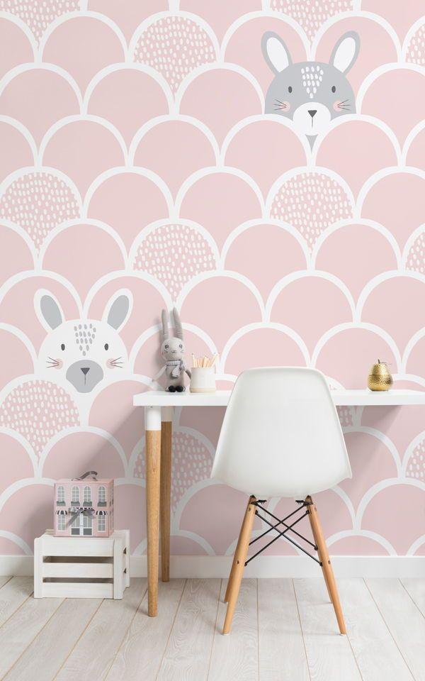 Kinder Rosa Pop Up Kaninchen Wandtapete | Tapeten Wandbilder | Pinterest |  Tapeten, Wände Und Kinderzimmer