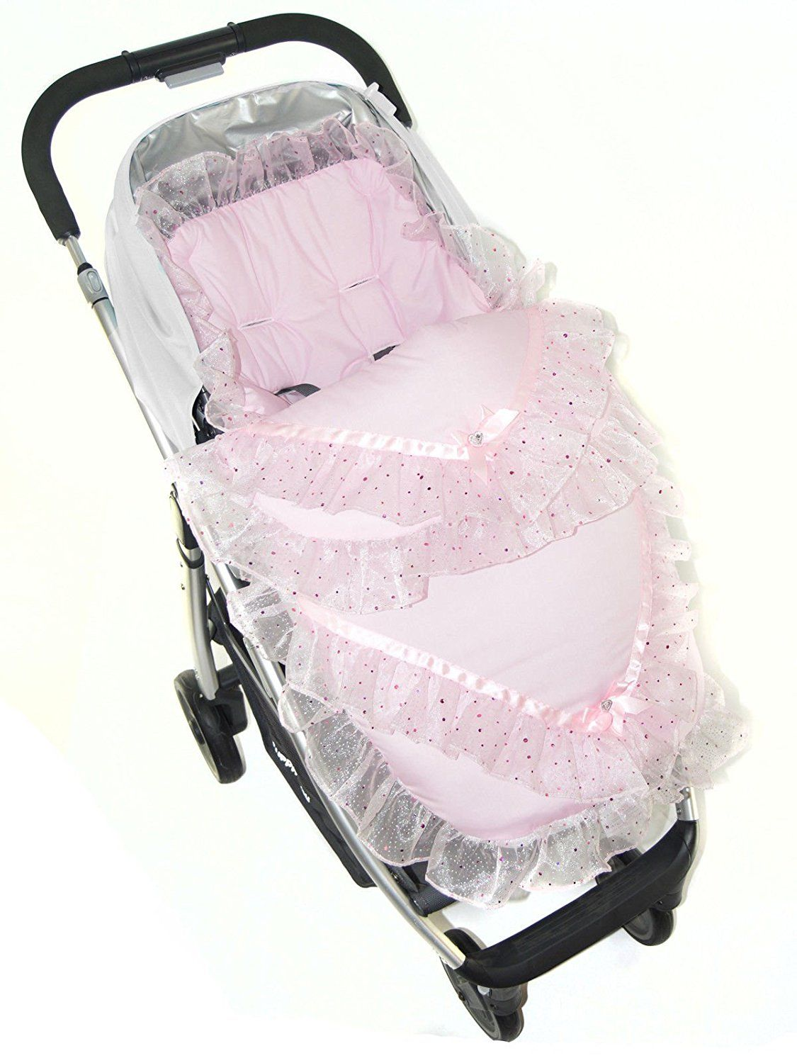 Broderie Anglaise Footmuff/Cosy Toes Fit Buggy Pushchair