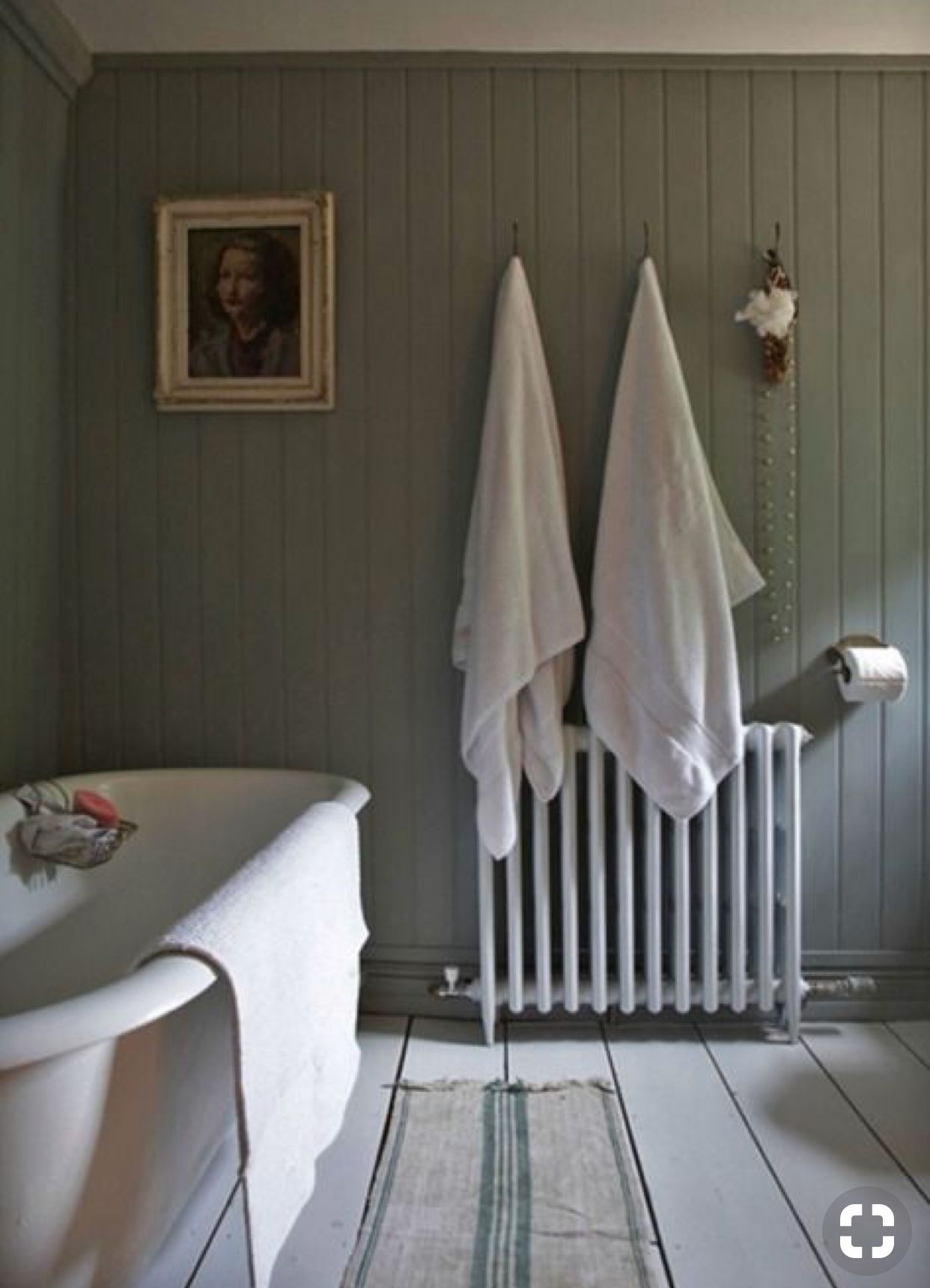 Wood Paneled Green Vintage Inspired Bathroom Tongue And Groove